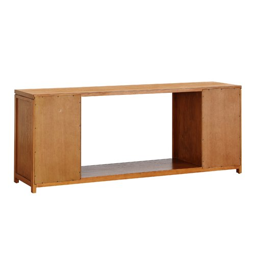 Latitude Run Jowers Widescreen 60'' TV Stand with Fireplace