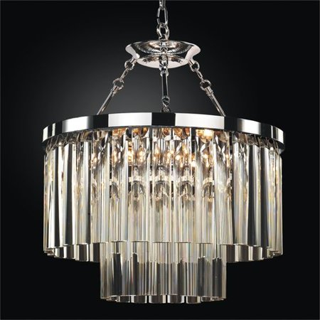 Glow Lighting Wind Chime 6-Light Crystal Chandelier