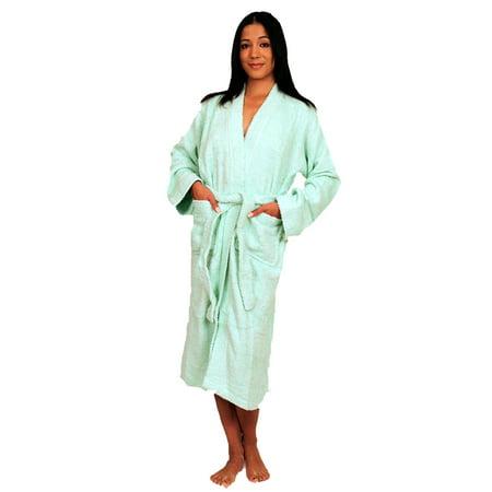 Terry Cloth Kimono Bath Robe Unisex 100% Cotton Classic Terry Cloth Kimono Robe
