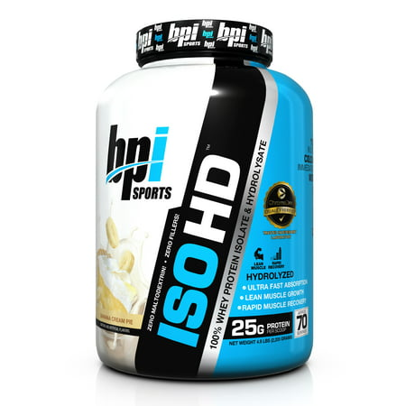 BPI ISO HD Whey Protein Powder, Banana Cream Pie, 5 Lb