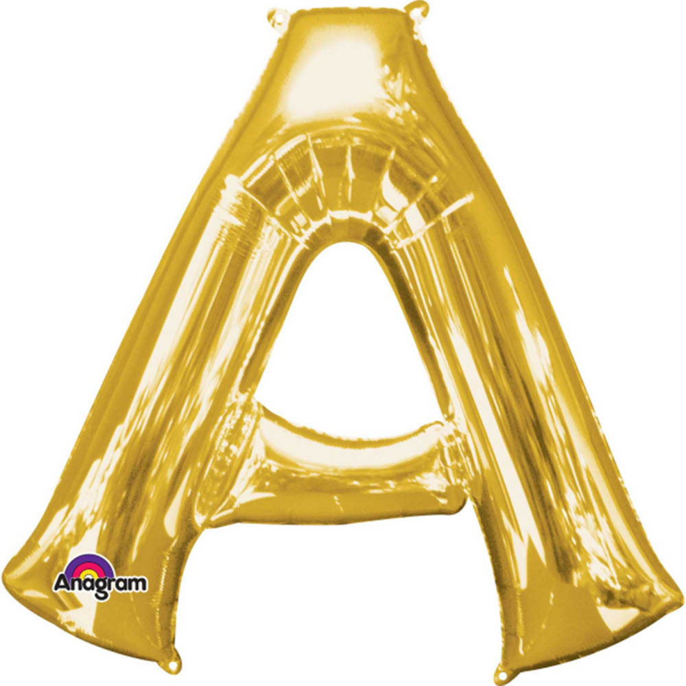 """Giant Gold Letter A Foil Balloon 37"""""""