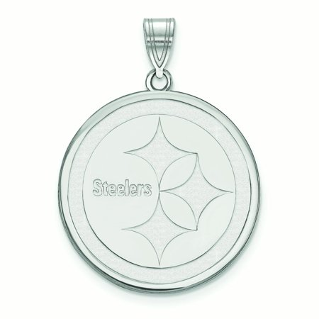 Pittsburgh Steelers Sterling Silver Large Logo Pendant - No Size