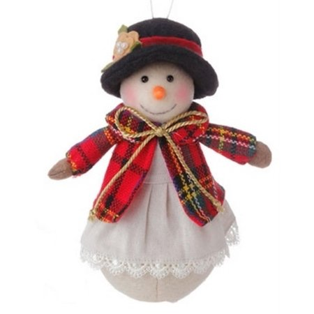"6.5"" Christmas Traditions Holiday Snowman Girl Christmas Table Top Decor Ornament"
