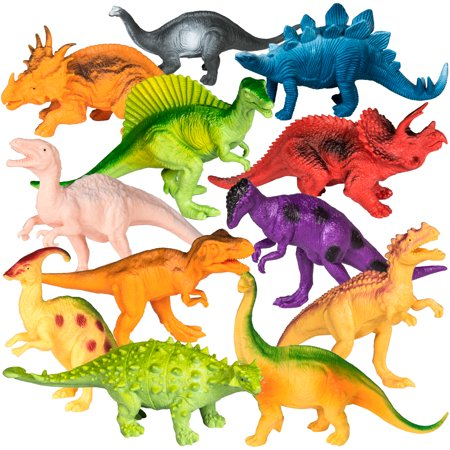 Best Choice Products 12-Pack of 7-Inch Mini Dinosaur Play Set of Educational and Realistic