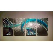 Tempest Blue Green - Abstract Metal Wall Art Contemporary Modern Decor by Miles Shay
