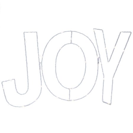 Holiday Metal Wire Joy w/Twinkle Lights Christmas Decor