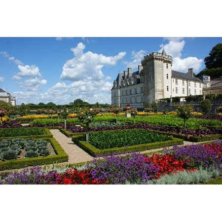LAMINATED POSTER Garden Castle Flowers Loire French Villandry Poster Print 24 x 36