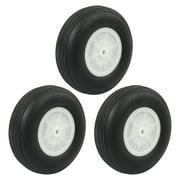 "3pcs RC Airplane Assembly Parts Super Light PU Tire Wheel 101.6mm 4"""