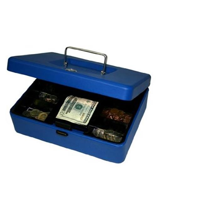 8 in. Blue Cash Box by Cool Kitchen