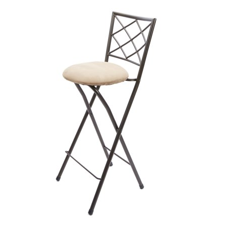 Diamond X Back Folding 30  Barstool Bronze  Multiple Colors