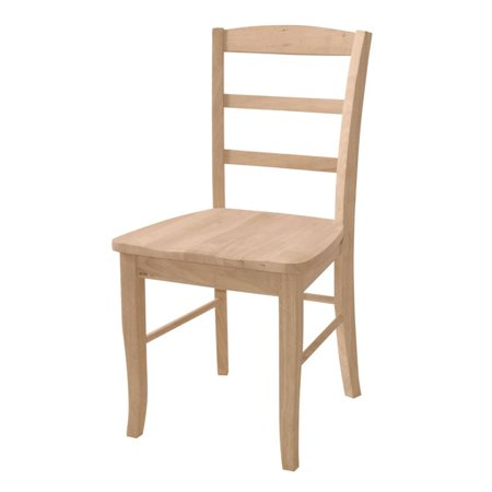International Concepts Madrid Chair  Set Of 2  Unfinished