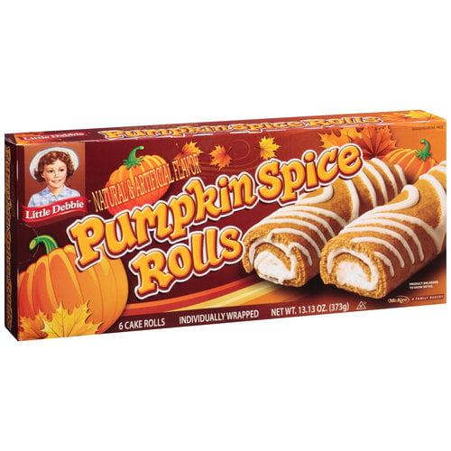 Little Debbie Pumpkin Spice Cake Rolls, 13.13 oz. Box