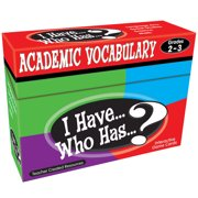Teacher Created Resources I Have, Who Has Academic Vocabulary Game, Grade 2-3