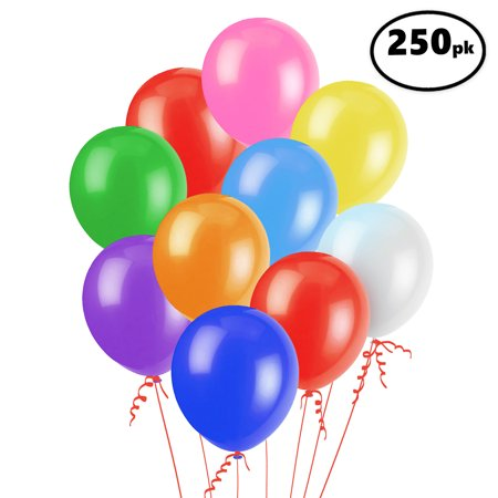 Latex Balloons, Assorted, 12in, 250ct - Alphabet Balloons Party City