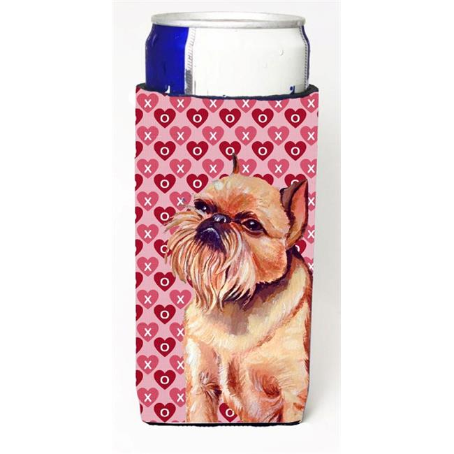 Carolines Treasures LH9134MUK Brussels Griffon Hearts Love And Valentines Day Portrait Michelob Ultra s For Slim Cans - 12 oz. - image 1 of 1