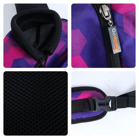 Onding Authorized Pet Carrier Single Shoulder Backpack Purple Fuchsia Geometric - image 2 de 8