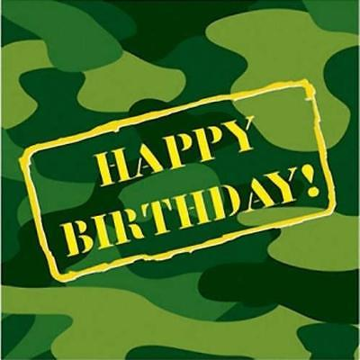 Camouflage Happy Birthday Lunch Napkins , 4PK