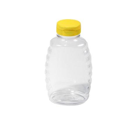Little Giant Farm and Ag SKEP16 16 oz Plastic Honey Squeeze Jar, 12 Per Case - Honey Jar Halloween Costume