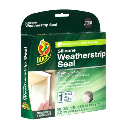 Duck Brand Max Strength Silicone Weatherstrip Seal - White, .31 in. x .25 in. x 17 ft.