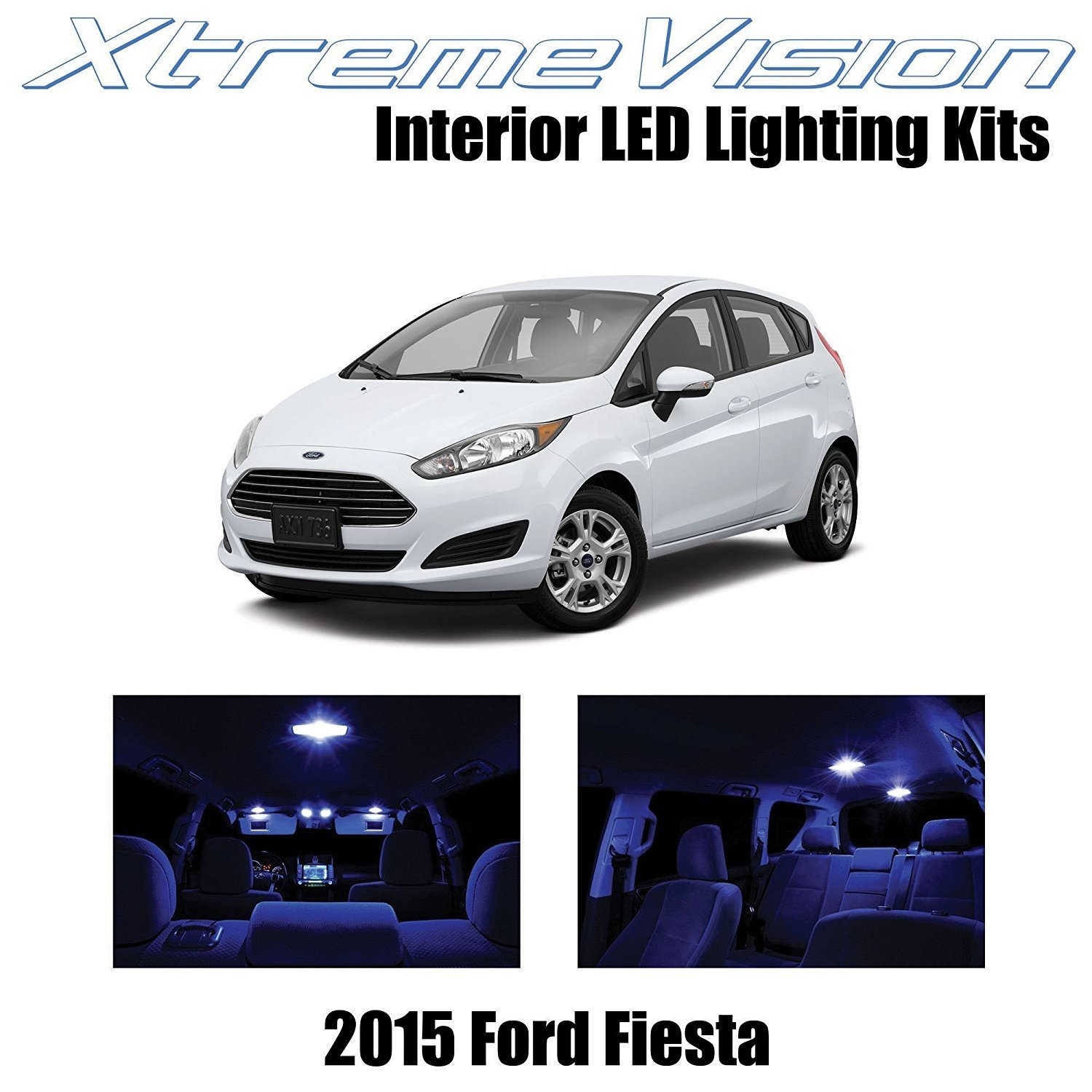 XtremeVision LED for Ford Fiesta 2015+ (7 Pieces) Pink Premium Interior LED Kit Package + Installation Tool Tool