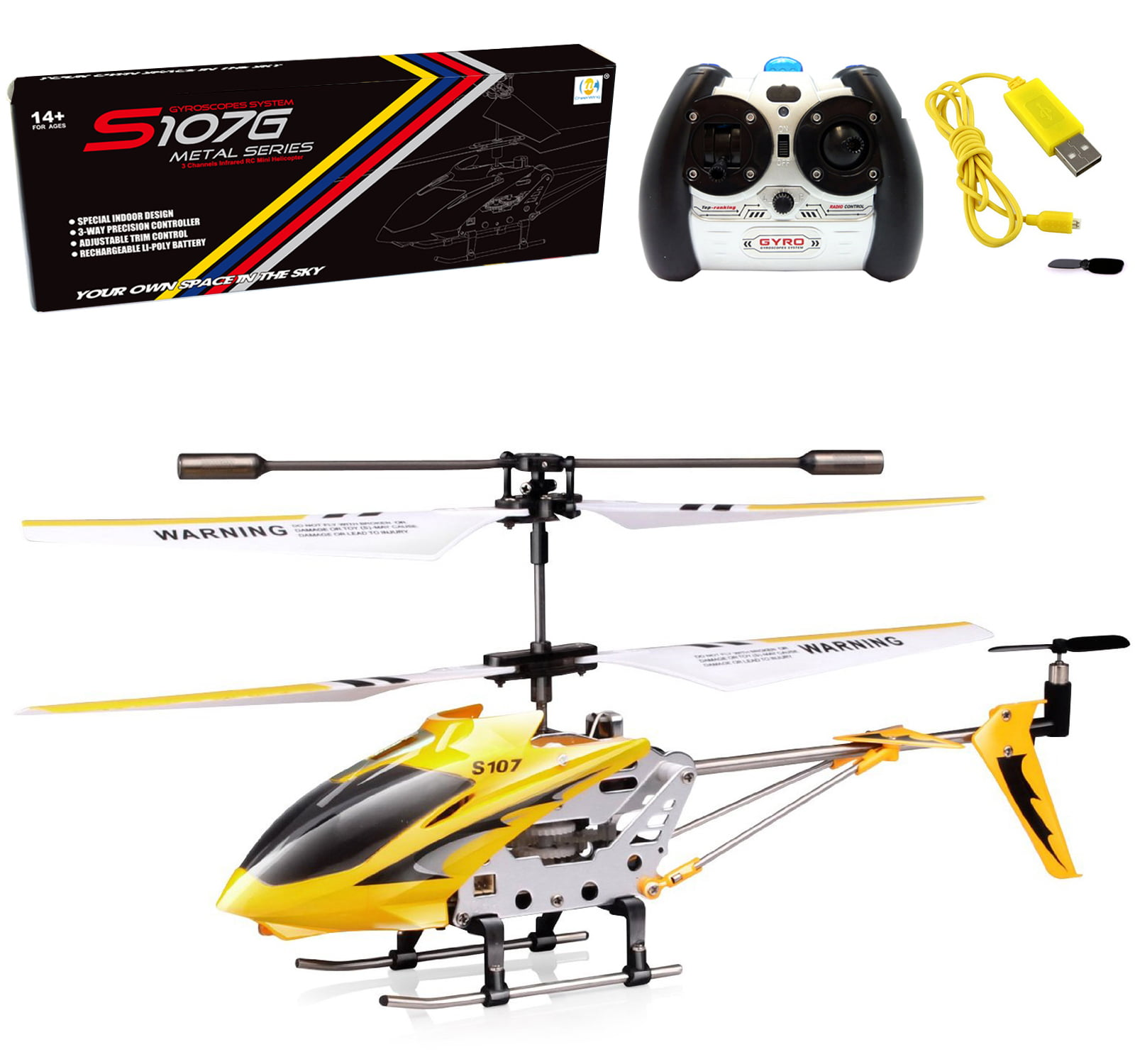 Cheerwing Syma S107 S107G Phantom 3CH 3.5 Channel Mini RC Helicopter with Gyro by Syma