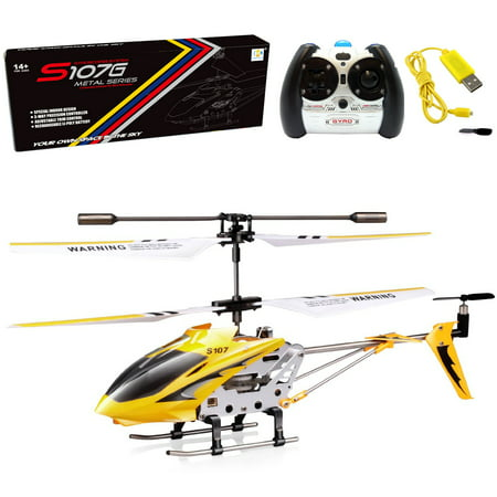 Controlled Mini Helicopter (Cheerwing Syma S107/S107G Phantom 3CH 3.5 Channel Mini RC Helicopter with Gyro)