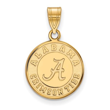 Alabama Medium (5/8 Inch) Disc Pendant (Gold Plated)