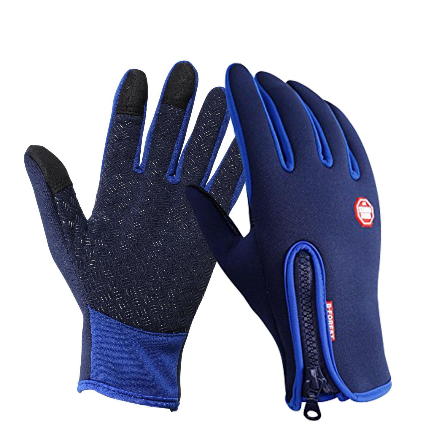 New Unisex Winter Glove with Warm Touchscreen Gloves Texting Driving Fleece Lining Thick Windproof for Riding ROJE