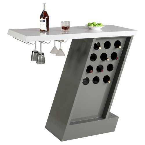 Chintaly Greenwich Modern Home Bar - Gray