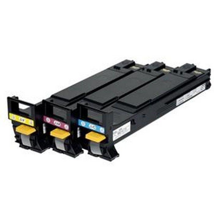 Konica-Minolta A06vj33 High Capacity Color Toner Cartridges Laser