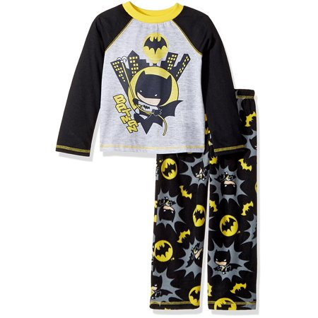 Batman Classic Chibis Pop Figure Boys Pajamas Sleep (Toddler) K183254BM](Batman Cartoons For Toddlers)