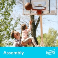 Portable Basketball Hoop Assembly by Handy