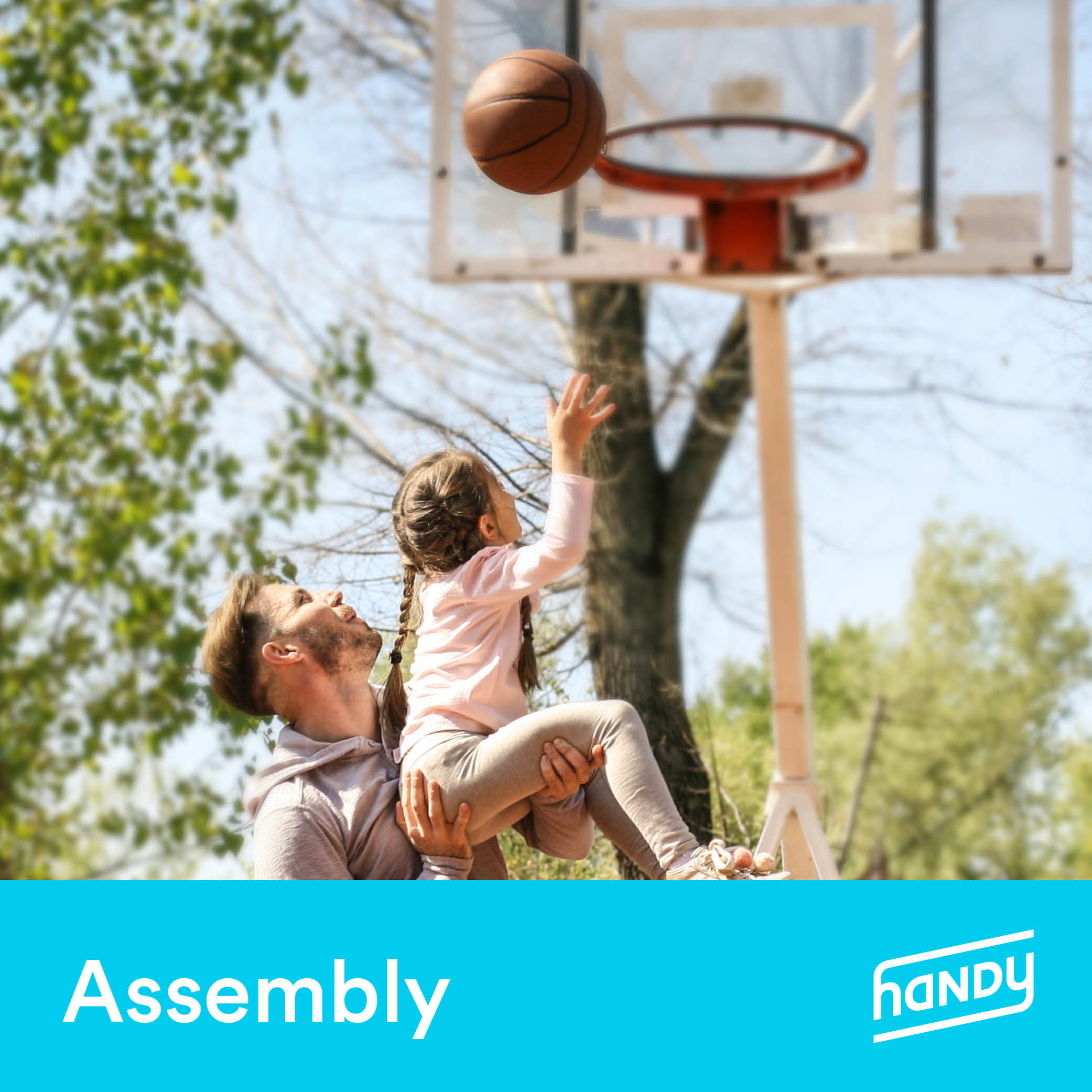 Basketball Hoop Assembly by Handy (Portable System)