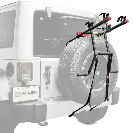 Allen Single - Allen Sports Deluxe 2-Bicycle Spare Tire Mounted Bike Rack Carrier, 322DN