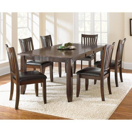 Steve Silver Josie 7 Piece Dining Table Set Red Oak