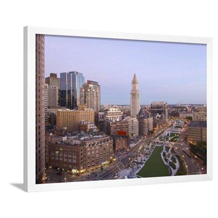 Atlantic Avenue and Customs House, Boston, Massachusetts, USA Framed Print Wall Art By John Coletti