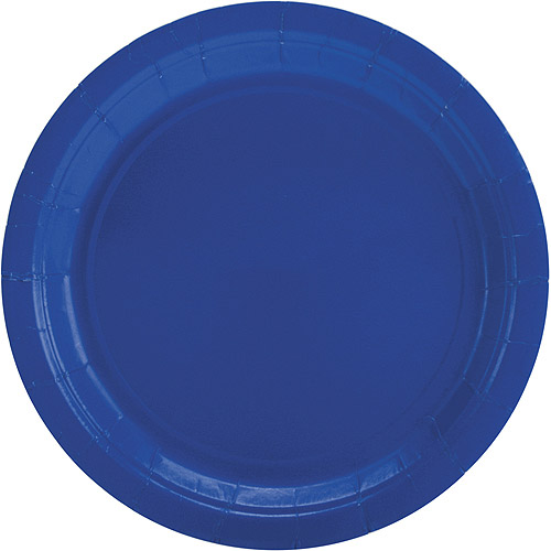 """9"""" Paper Lunch Plates, Bright Rotal Blue, 50 ct"""