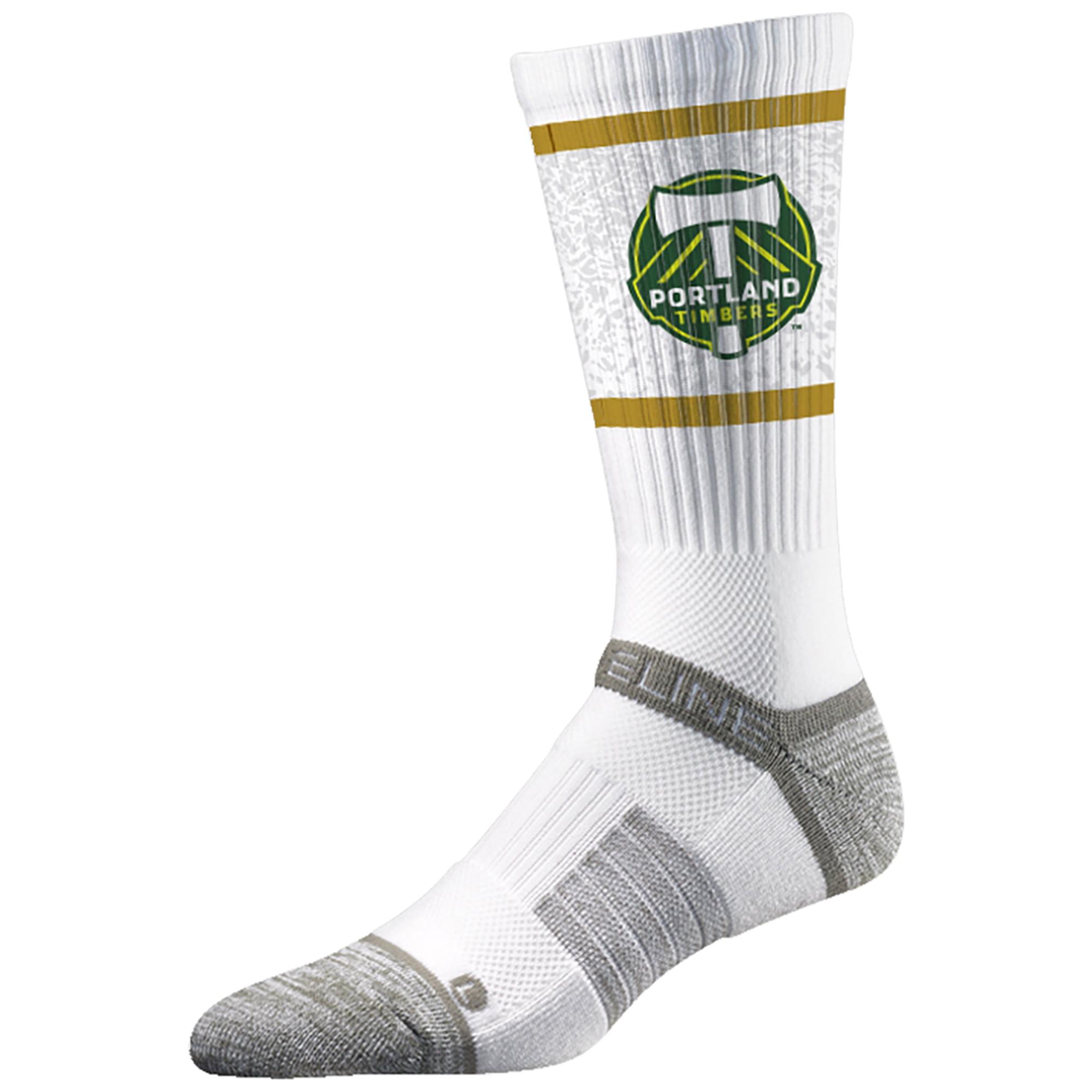 Portland Timbers Team Primary Logo Crew Socks - White - M/L