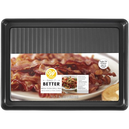 Small Jelly Roll Pan - Wilton Bake It Better Non-Stick Mega Grill Pan, 15 x 21-Inch