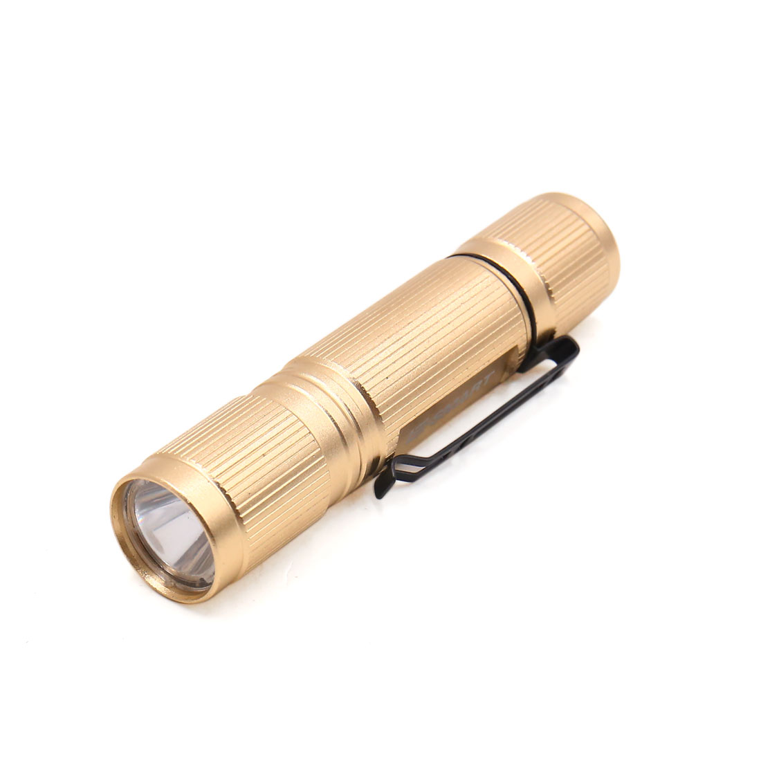 Mini Portable Gold Tone Metal Shell White LED Torch Light for Outdoor Sports by Unique-Bargains