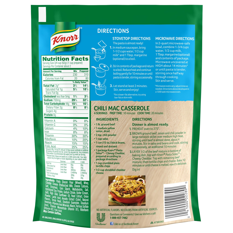 Knorr Cheesy Cheddar Pasta Sides Dish, 4.3 oz - Walmart.com