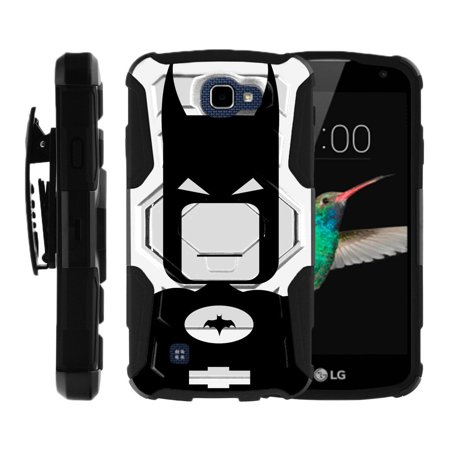 LG K4 Case   LG Rebel Case   LG Optimus Zone 3 Case [ Armor Reloaded ] Heavy Duty Cell Phone Case with Kickstand and Bonus Holster - Batboy