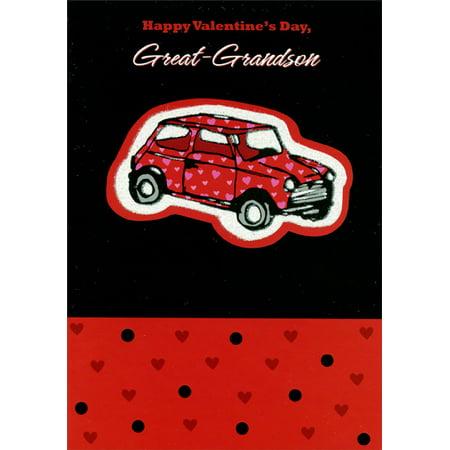 Designer Greetings Glitter Car: Great-Grandson Valentine's Day - Zoob Car Designer