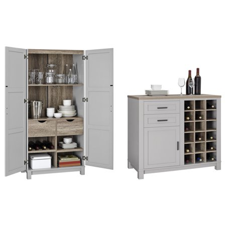 Better Homes and Gardens Langley Bay Storage Cabinet with Better Homes and Gardens Langley Bay Wine Cabinet, Multiple Colors](Halloween Store Langley)
