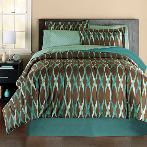 Mainstays Wavy Bed In A Bag Bedding Set