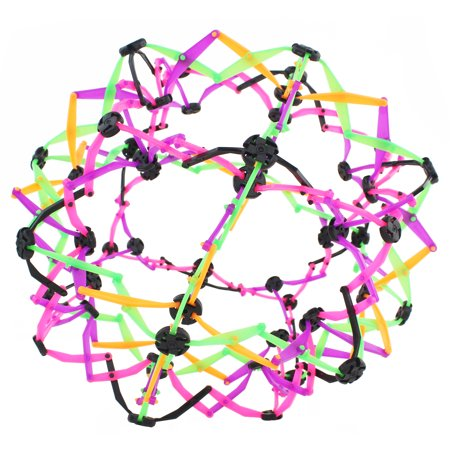 Geometric Hand Catch Flower Expandable Ball For Kids, Children, Great Stress Relief Toy (Color May - Homemade Stress Ball