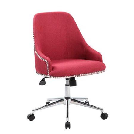 Boss Carnegie Desk Chair Marsala red