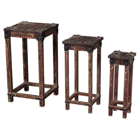 3 Piece Stacking Table (Sterling Distressed 3 Piece Stacking Table Set )