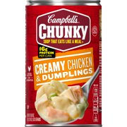 (4 Pack) Campbell'sChunky Soup, Creamy Chicken & Dumplings, 18.8 oz Can