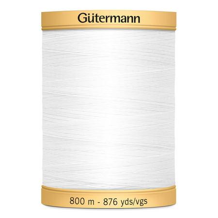 Gutermann Natural Cotton White Thread, 876 (Gutermann Cotton Quilting Thread)